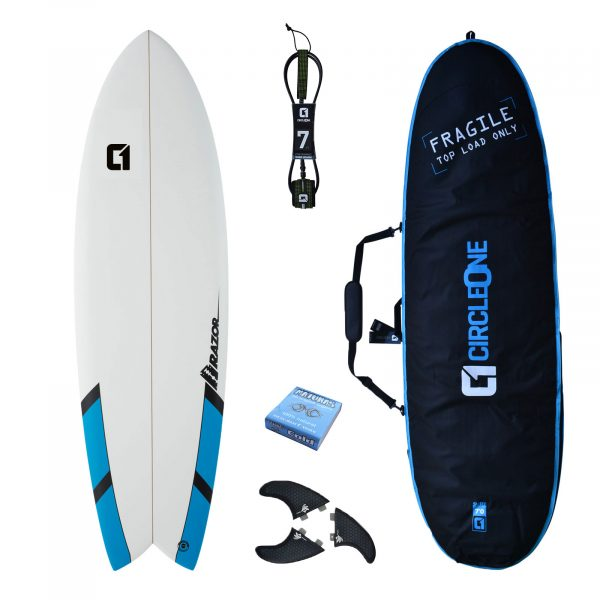 6ft Razor Surfboard Shortboard 2020 - Package Includes Bag, Fins, Wax & Leash