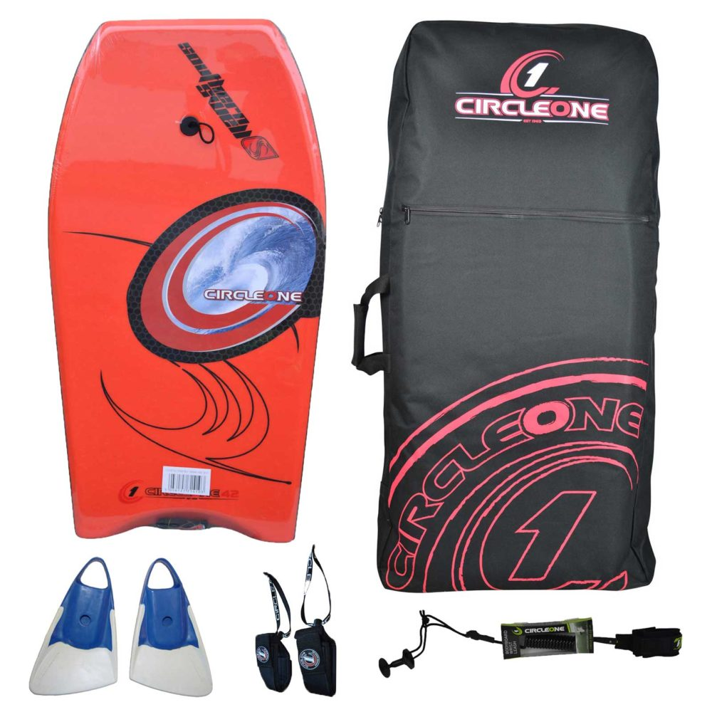42inch Adults Xplosion Series EPS Bodyboard Package with travel bag and optional fins