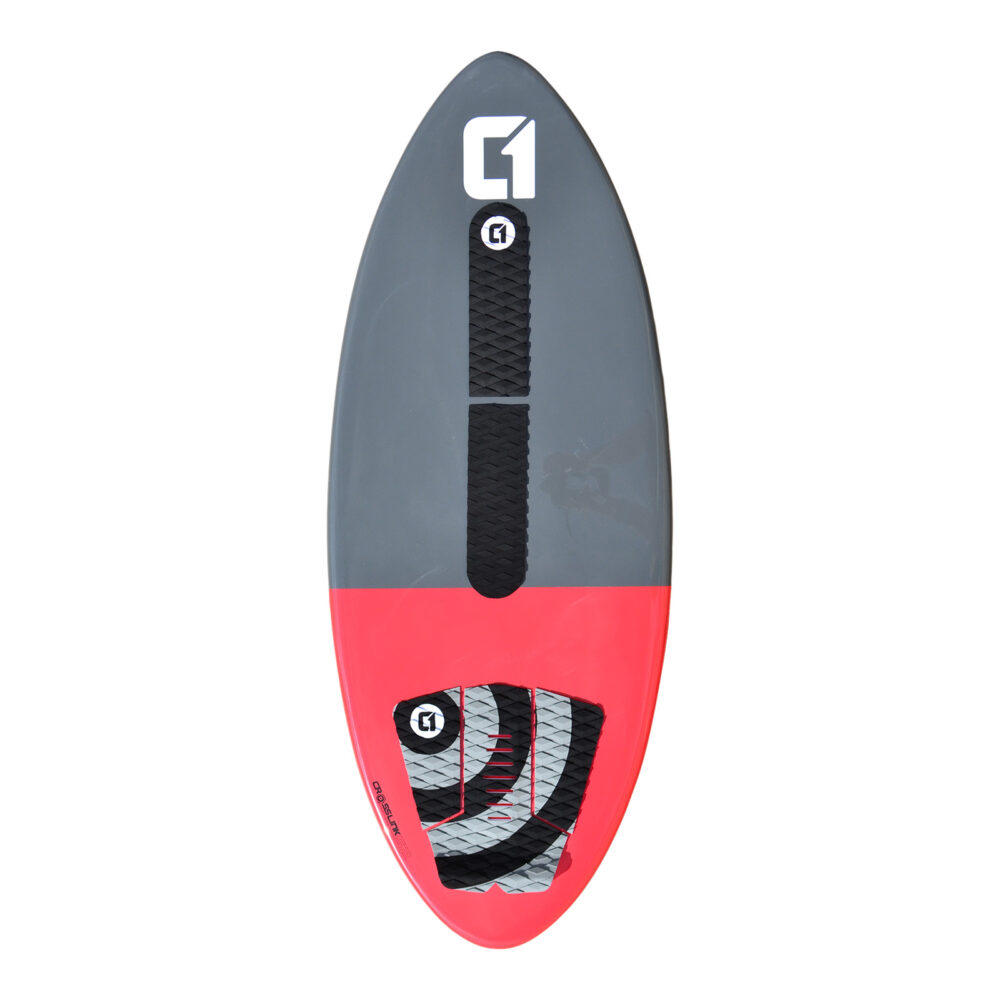 Carbon Fibre Epoxy Skimboard Package in Cobalt Grey - Includes Bag, Arch Bar, Traction Pad & Wax