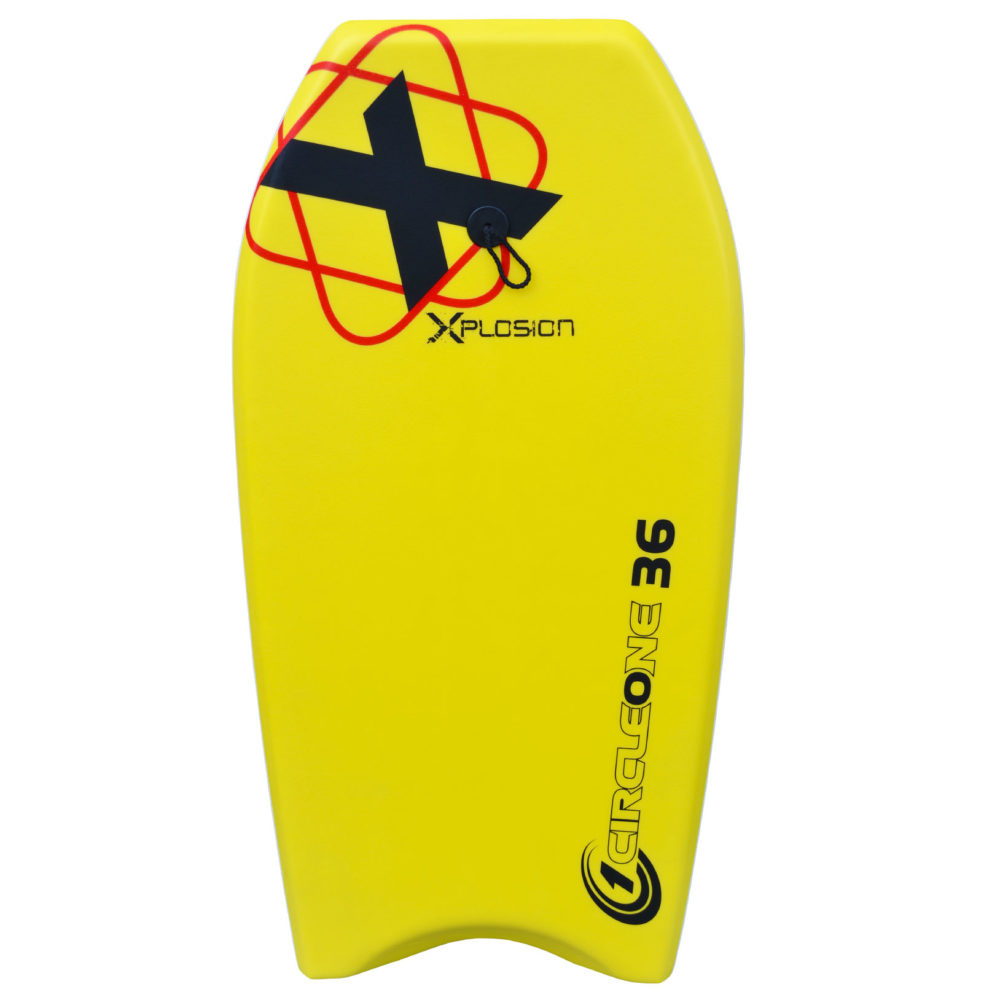 36inch Kids Xplosion Series EPS Bodyboard Package with travel bag and optional fins