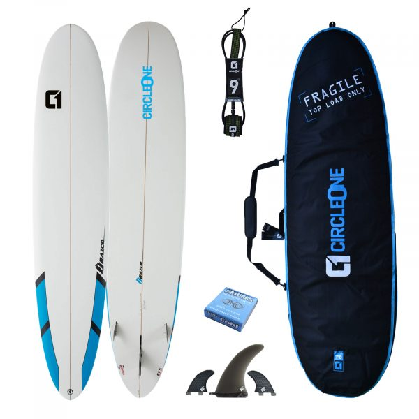 9ft Razor Longboard Surfboard Package 2020 - Includes Bag, Fins, Wax & Leash