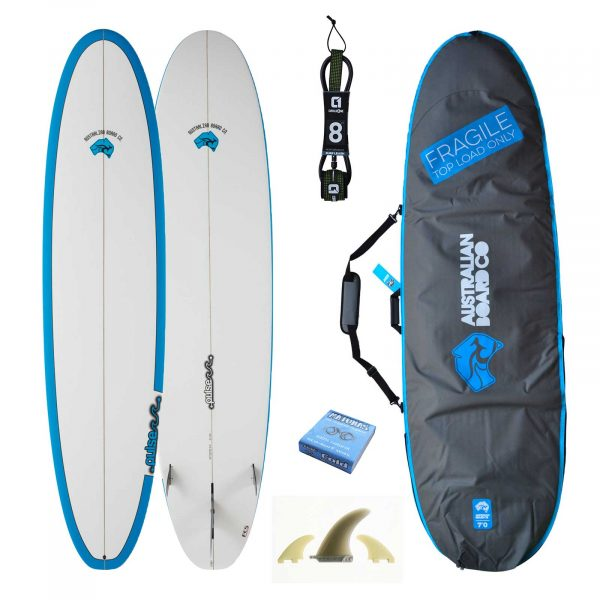 8ft Razor Mini Mal Surfboard Matt Finish Package 2020 - Includes Bag, Fins, Wax & Leash