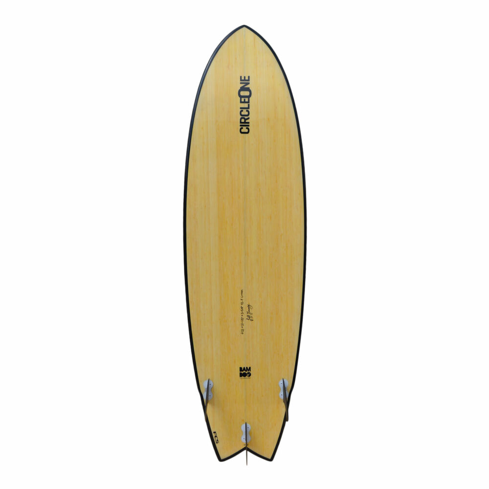 """6' 6"""" Bamboo Wing Swallow Tail Shortboard Surfboard"""