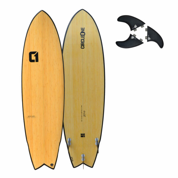 "6' 6"" Bamboo Wing Swallow Tail Shortboard Surfboard"