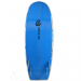 An image of the underside of the 5ft 2inch Funky Pig Surfboard in blue.