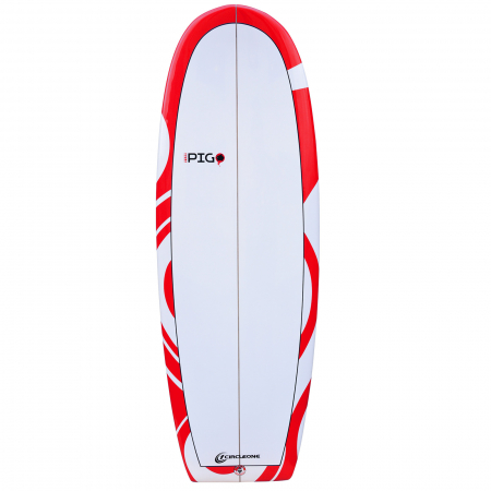 An image of the 5 ft 2 inch Funky Pig Surfboard in orange.