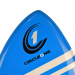 An image of the nose of the Circle One Epoxy Skimboard in blue.