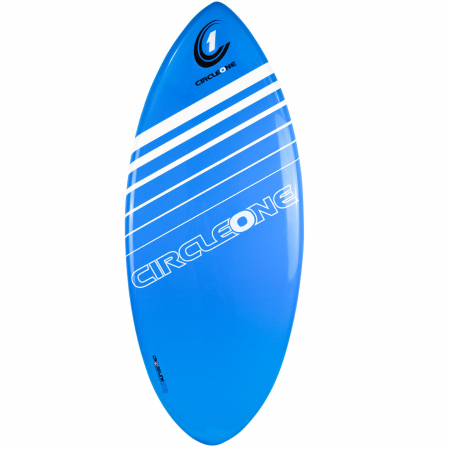 An image of the Circle One Epoxy Skimboard in blue.