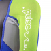 An image of the shoulder logo on the 2017 Pulse tots wetsuit in green and blue.
