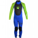 An image of the 2017 Pulse tots wetsuit in green and blue.