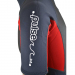 An image of the side of the 2017 Pulse adult short wetsuit in red.