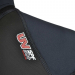 An image of the UV SPF 50+ logo on the 2017 Pulse men's wetsuit in red.