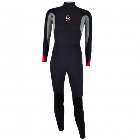 An image of the 2017 FAZE men's wetsuit in red.