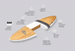 Bamboo Surfboard Technical Diagram